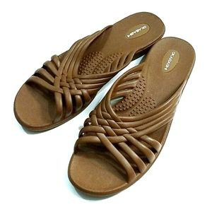 Okabashi Rubber Slip on Flip Flops Sandals 8 9